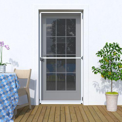 Moskitiera drzwiowa, na zawiasach 120x220 cm, gotowa, biała marki Jarolift