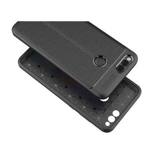 Etui pancerne Alogy leather case Huawei Honor 7X czarne +Szkło, kolor czarny