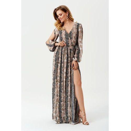 Sukienka Penelopa w wężowy wzór, w 2 rozmiarach