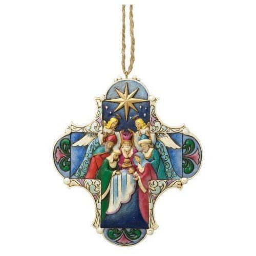 Krzyż, szopka, zawieszka (nativity cross), 4034418 figurka ozdoba świąteczna marki Jim shore
