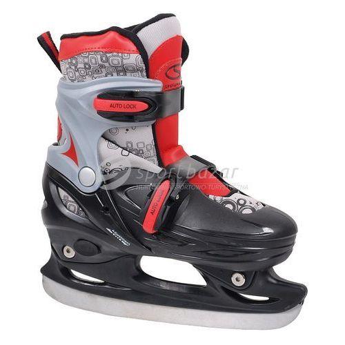 Łyżwy hokejowe regulowane CRK41 Boy czarno/srebrne kwadraty - oferta [05a3dca13f93a6c4]