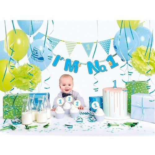 Party Box - Imprezowe Pudełko - Zestaw dekoracji na roczek I'm no. 1 dla chłopca