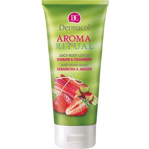 Dermacol Aroma Ritual Rhubarb & Strawberry mleczko do ciała 200 ml dla kobiet (8595003108768)