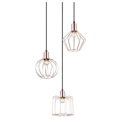 Lampa wisząca Italux Gervais MDM-3345-3 BK+COP zwis 3x40W E27 czarna / miedziana (5900644434382)