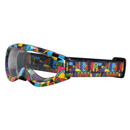 Dziecięce motocyklowe okulary W-TEC Spooner, Kolorowa grafika (8595153642969)