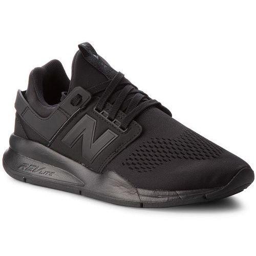 Sneakersy - ms247ek czarny, New balance, 40.5-46.5
