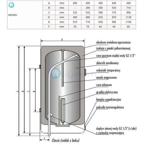 BIAWAR Ogrzewacz wody CLASSIC + 80 L - oferta (15c9d6afaf538561)
