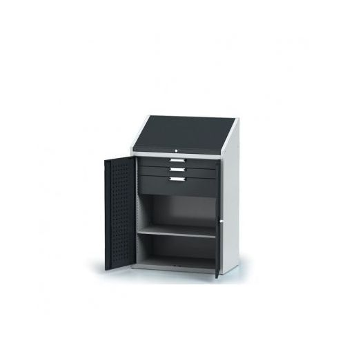 Szafa warsztatowa z nadstawką - 1 półka, 3 szuflady marki Alfa 3