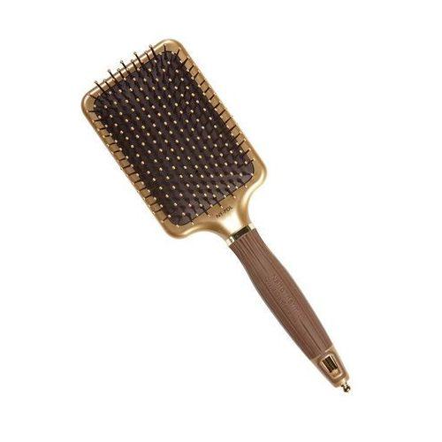 Olivia Garden Nano Thermic Paddle | Płaska szczotka do wygładzania włosów (5414343003102)
