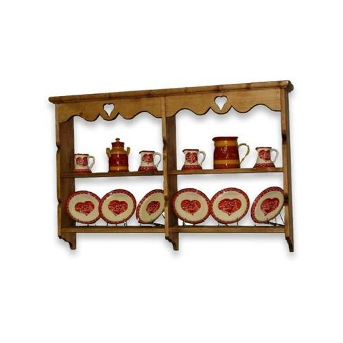 Półka wisząca z drewna świerkowego Mexicana 6 (półka do salonu)