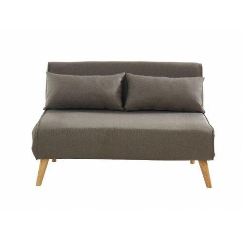 Vente-unique Rozkładana 2-osobowa sofa z tkaniny posio - kolor taupe