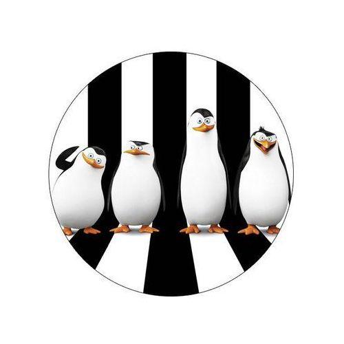 Dekoracyjny opłatek tortowy pingwiny z madagaskaru - 20 cm - 1 marki Modew