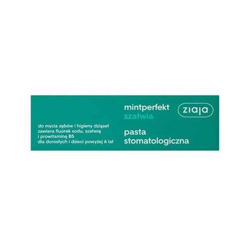 Ziaja 75ml mintperfekt szałwia pasta stomatologiczna do zębów