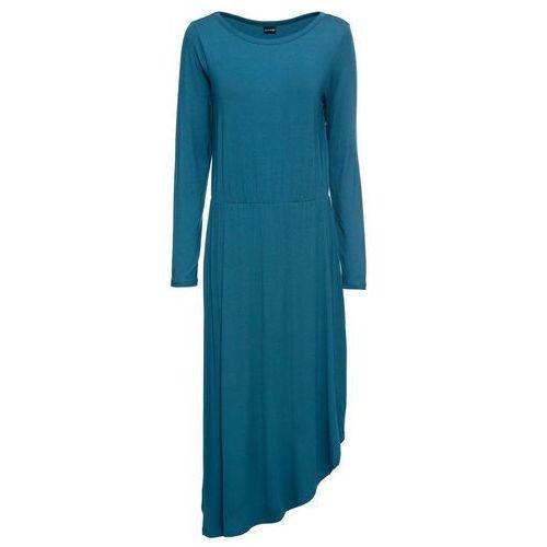 Sukienka z dżerseju niebieskozielony marki Bonprix