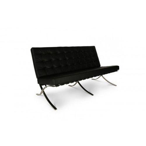 Sofa BA2 Premium Inspirowana Barcelona - czarny, kolor czarny
