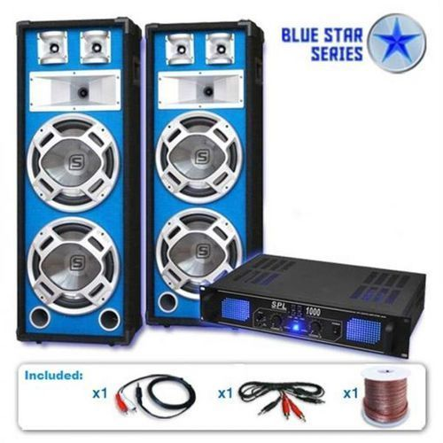 "Elektronik-star System glosników pa 2600 watt seria blue star ""bass core"" dj"