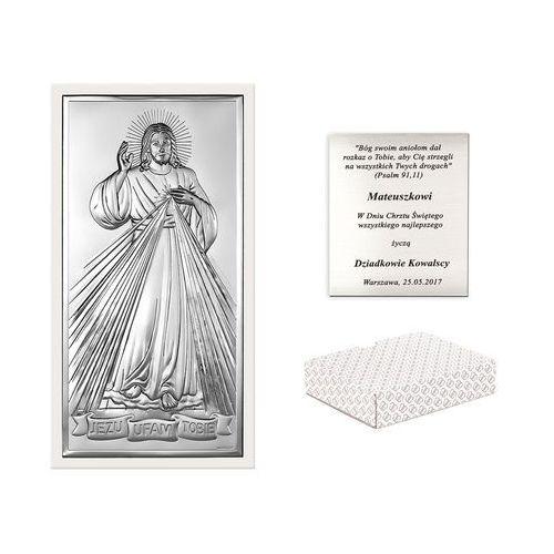Obrazek srebrny bianco jezus miłosierny grawer pr397 marki Murrano