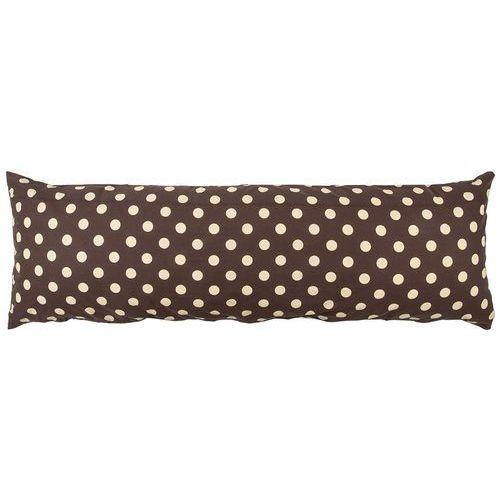 4home poszewka na poduszkę relaksacyjną mąż zastępczy kropka czekolada, 50 x 150 cm