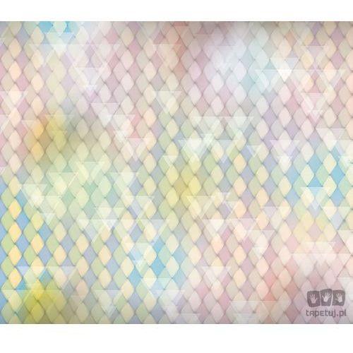 Fototapeta Klasyczne romby i białe trójkąty – wyblakłe pastele w wielu odcieniach 1474 (fototapeta)