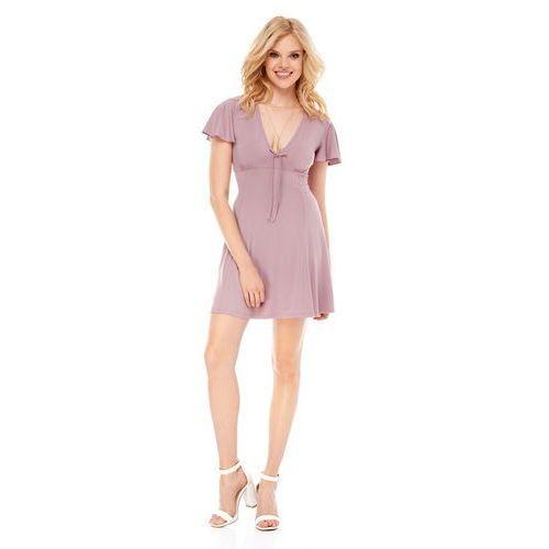 Sukienka Nika w kolorze cappuccino, w 4 rozmiarach