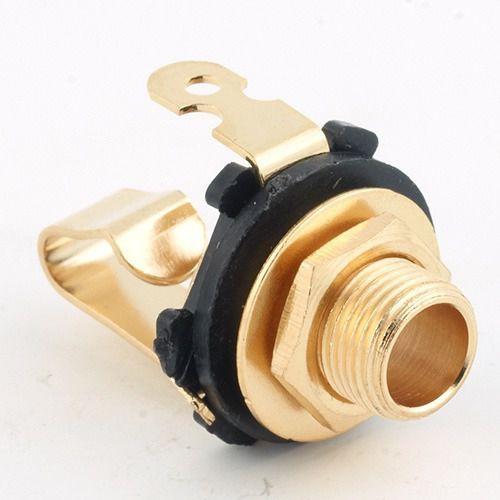 MEC Standard Plug open Mono złoty contacts silver plates gniazdo gitarowe