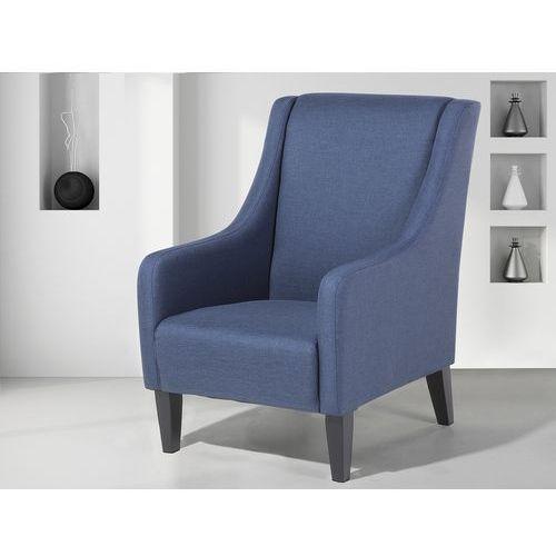Fotel niebieski - do salonu - wypoczynkowy - klubowy - baltimore marki Beliani