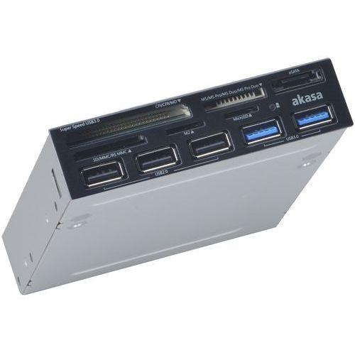 """Czytnik kart pamięci usb 3.0 do obudowy komputera, ak-icr-17, 3,5"""", all-in-one marki Akasa"""