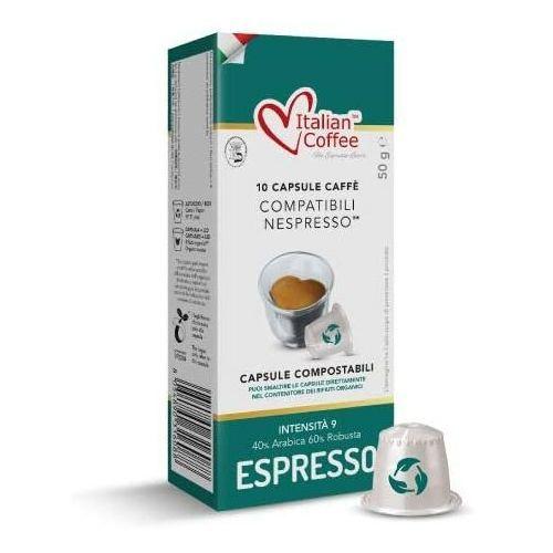 Espresso (kapsułka biodegradowalna) italian coffee kapsułki do nespresso – 10 kapsułek marki Nespresso kapsułki