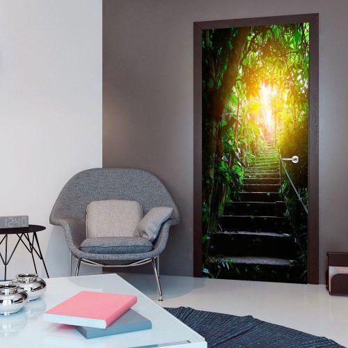 Fototapeta na drzwi - tapeta na drzwi - schody w miejskiej dżungli marki Artgeist