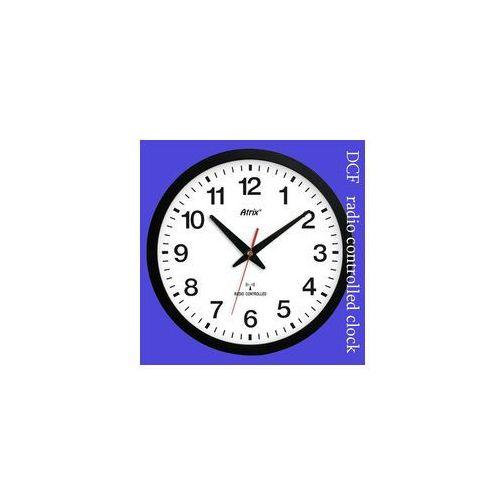 Zegar czarny sterowany radiowo #1, kolor Zegar