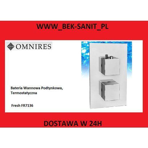 Bateria wannowa Fresh FR7136 Omnires termostatyczna podtynkowa chrom FR7136 producenta Omnires