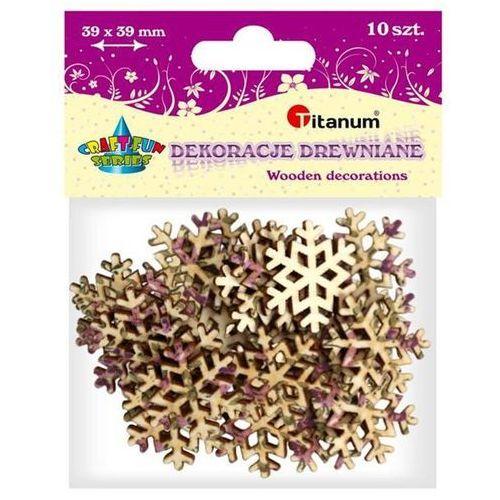Titanum Dodatek dekoracyjny craft-fun dekoracja drewniana 39x39mm snowflake (wdy060)