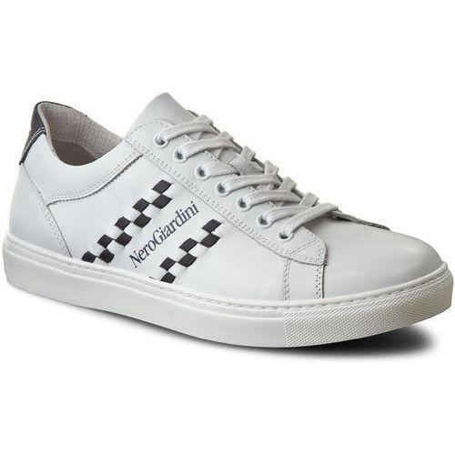 Sneakersy NERO GIARDINI - P704930U Bianco/Blu 707, w 4 rozmiarach