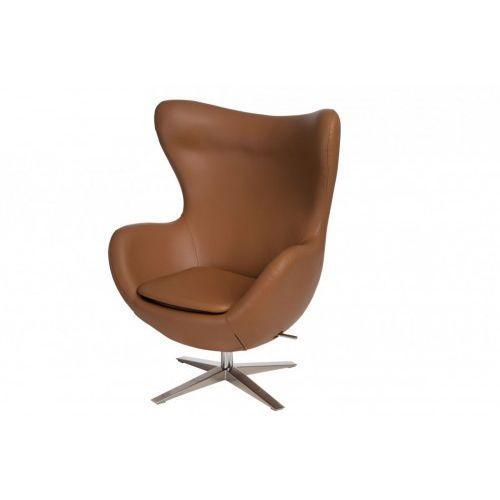 Fotel jajo soft skóra ekologiczna 523 brązowy jasny marki D2.design