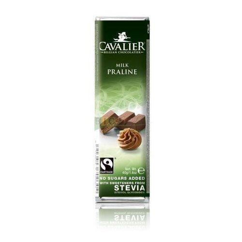 Cavalier Baton mleczny z nadzieniem pralinowym z belgijskiej czekolady bez dodatku cukru 40g