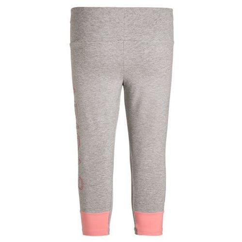 adidas Performance ATHLETICS Legginsy medium grey heather/ray pink - produkt z kategorii- legginsy dla dzieci