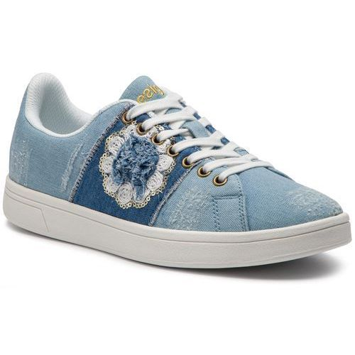 Sneakersy DESIGUAL - Cosmic Exotic Denim 19SSKD03 5007