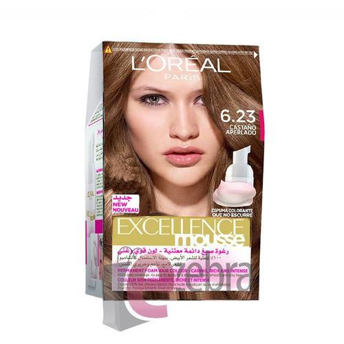 LOREAL FARBA DO WŁOSÓW EXCELLENCE 6.23 LIGHT BROWN - 6.23 PEARLY LIGHT BROWN, Loreal