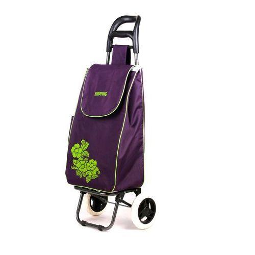Wózek na zakupy Flower fioletowy (wózek na zakupy)
