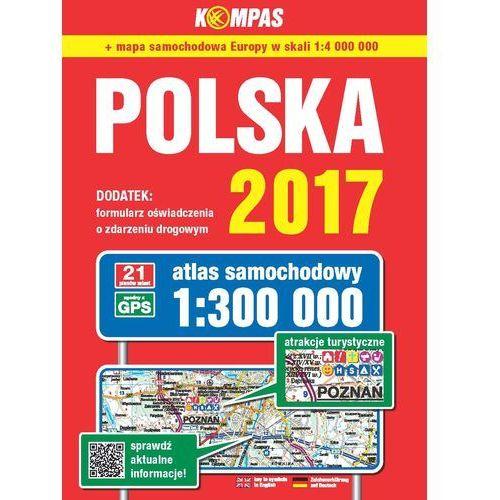 Atlas samochodowy Polski Kompas 1:300 000/2017, DOM WYDAWNICZY PWN