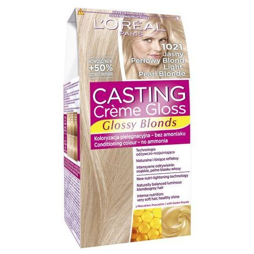 Loreal L'oreal paris, casting creme gloss. farba do włosów, 1021 jasny perłowy blond - l'oreal paris (3600521831816)