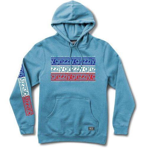 bluza GRIZZLY - Birmingham Hoodie Carolina Blue (CBLU) rozmiar: M, kolor niebieski