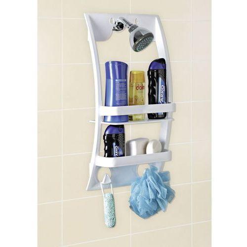 Uniwersalna półka łazienkowa - półka do montowania na kabinie lub drzwiach w łazience, WENKO