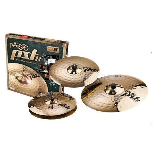 Paiste pst 8 14″hh 16″c 20″r rock set zestaw talerzy perkusyjnych