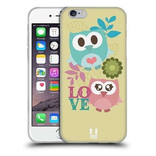Etui silikonowe na telefon - Kawaii Owl PINK AND BLUE LOVE