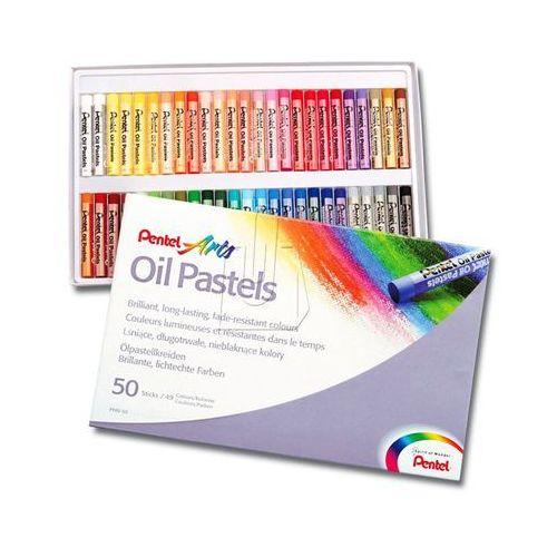 Kredki Pastele 50 kolorów PENTEL