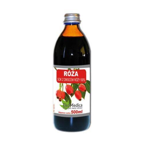 Eka medica róża sok z róży 100% 500ml marki Eko medica