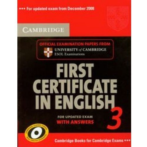 Cambridge First certificate in English (9780521739306)