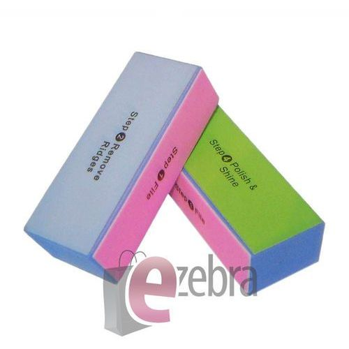 BLOK POLERSKI KOSTKA POLERKA 4 STOPNIOWY - produkt z kategorii- pilniki i polerki do paznokci