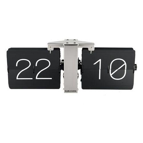 :: zegar biurkowy flip clock no case czarny - czarny marki Karlsson